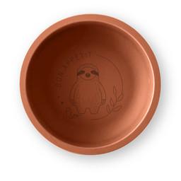 Pois et Moi Pois et Moi - Silicone Plate, Papaya and Sloth