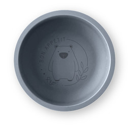 Pois et Moi Pois et Moi - Silicone Plate, Grey and Bear