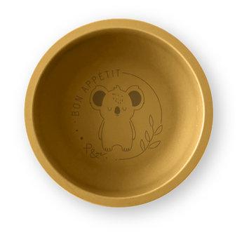 Pois et Moi Pois et Moi - Silicone Plate, Mustard and Koala