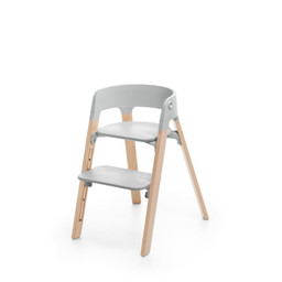 Stokke Stokke - Steps High Chair, Natural Legs with Grey Seat