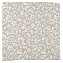 The Mini Scout The Mini Scout - Cotton Muslin Swaddle, Magnolia Tree Grey