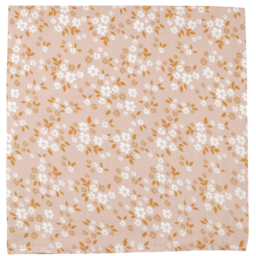The Mini Scout The Mini Scout - Cotton Muslin Swaddle, Whimsy Floral Peach