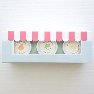 The Dough Parlour The Dough Parlour - Pack of 3 Natural Modeling Dough Tub, Lime, Tangerine, Lemon