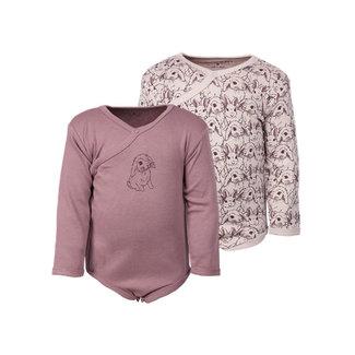 Fixoni Fixoni - Long Sleeves Bodysuit, Pink Bunny