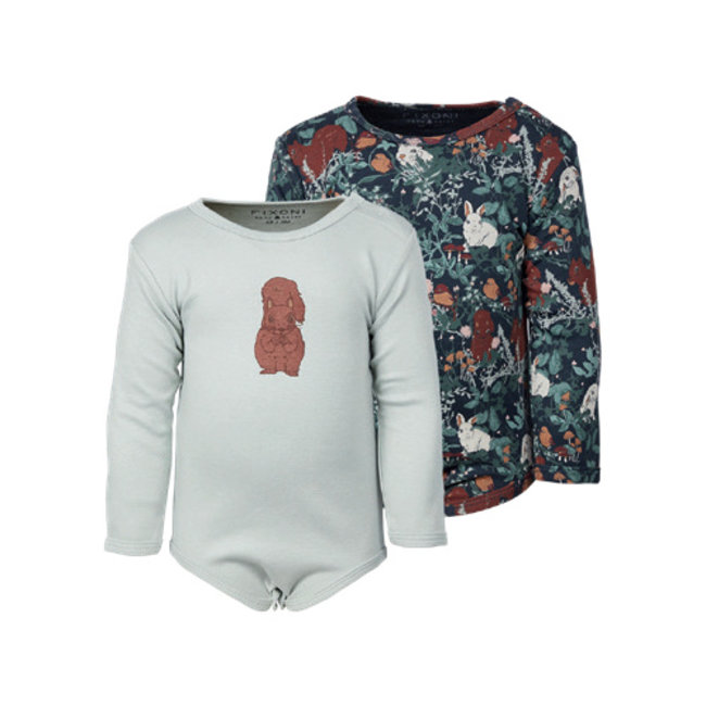 Fixoni Fixoni - Long Sleeves Bodysuit, Light Green Squirrel