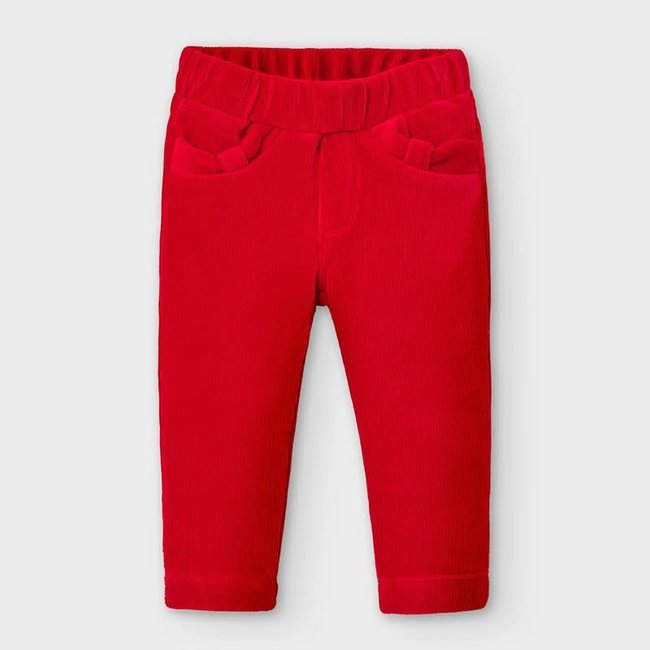 Mayoral Mayoral - Corduroy Pants, Red