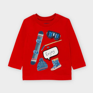 """Mayoral Mayoral - """"Play With"""" T-Shirt, Red"""