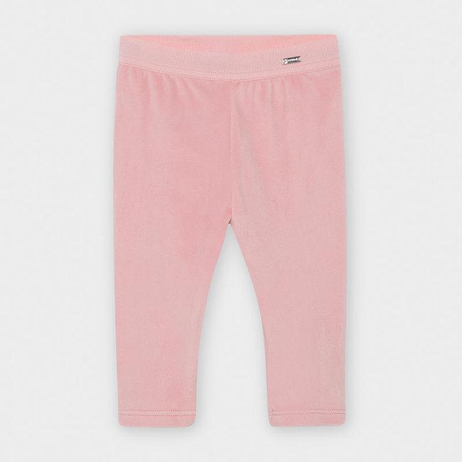 Mayoral Mayoral - Basic Velvet Leggings, Pink