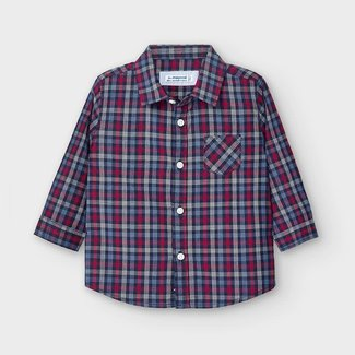 Mayoral Mayoral - Poplin Plaid Shirt, Blue