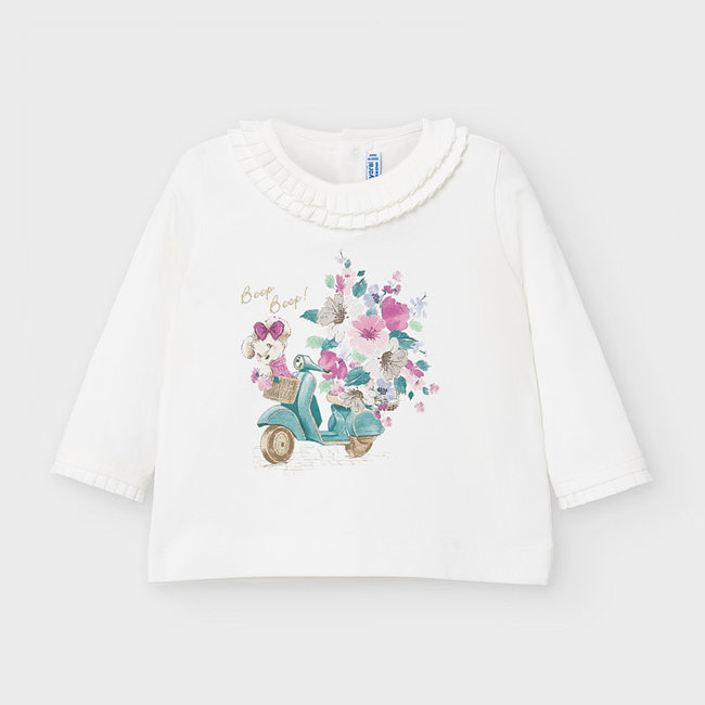 Mayoral Mayoral - Printing Shirt, Ecru-Jade
