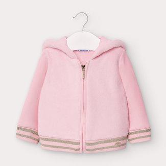 Mayoral Mayoral - Faux Fur Fleece Sweater, Pink