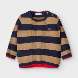 Mayoral Mayoral - Striped Sweater, Almond