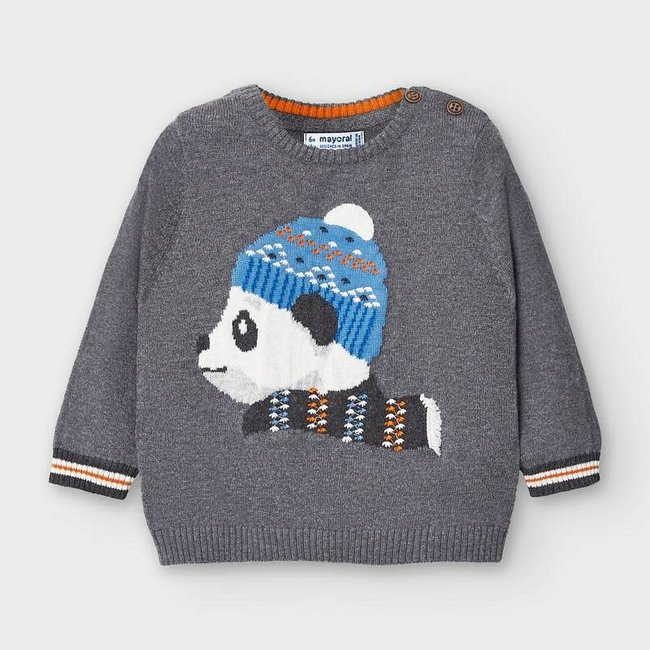 Mayoral Mayoral - Intarsia Sweater, Cement
