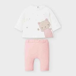 Mayoral Mayoral - Cat Clothing Set, Blush