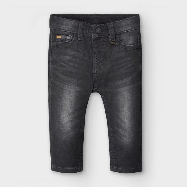 Mayoral Mayoral - Soft Denim Pants, Black