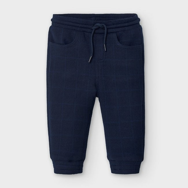 Mayoral Mayoral - Plaid Jogger Pants, Blue