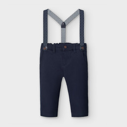 Mayoral Mayoral - Chino Pants with Straps, Navy