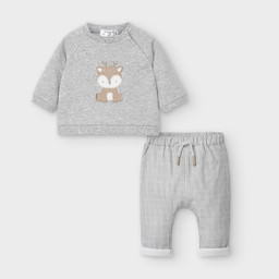 Mayoral Mayoral - Sweater and Pants Set, Plaid