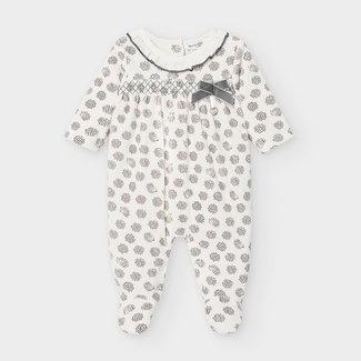 Mayoral Mayoral - Printed Velvet Pyjama, Graphite