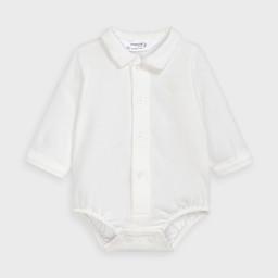 Mayoral Mayoral - Shirt Bodysuit, Ecru