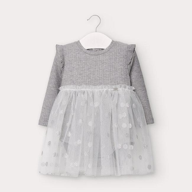 Mayoral Mayoral - Tulle Bodysuit Dress, Vigo Silver