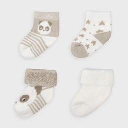 Mayoral Mayoral - Pack of 4 Pairs of Socks, Ecru
