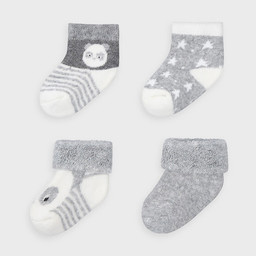 Mayoral Mayoral - Pack of 4 Pairs of Socks, Vigo Grey
