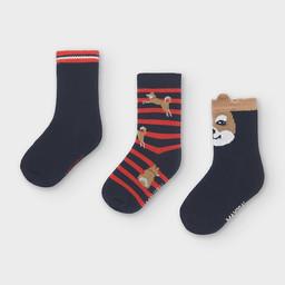 Mayoral Mayoral - Pack of 3 Pairs of Dog Socks, Blue
