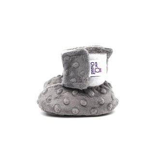 Bébé Ô chaud Bébé Ô Chaud - Velcro Slippers for Baby, Grey