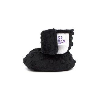 Bébé Ô chaud Bébé Ô Chaud - Velcro Slippers for Baby, Black