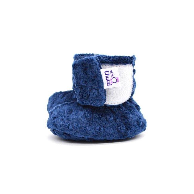 Bébé Ô chaud Bébé Ô Chaud - Velcro Slippers for Baby, Navy