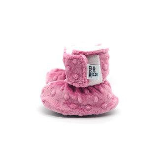 Bébé Ô chaud Bébé Ô Chaud - Velcro Slippers for Baby, Dusty Pink