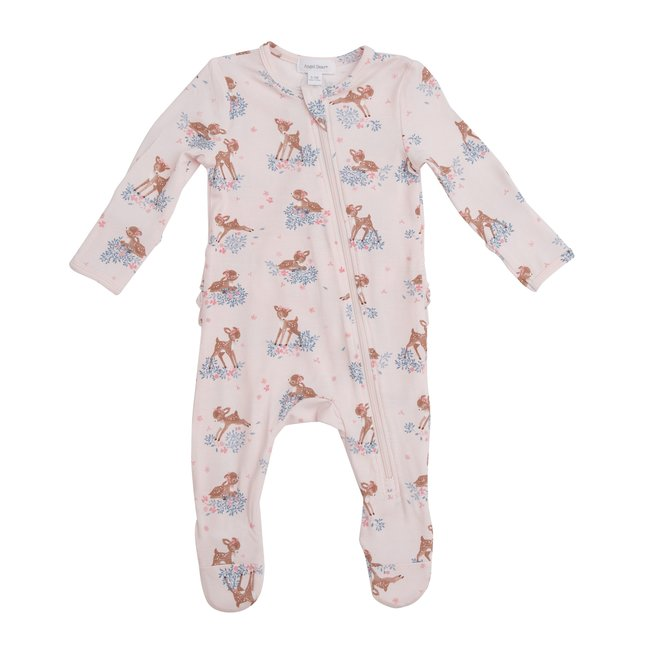 Angel Dear Angel Dear - Zipper Footie, Woodland Deer