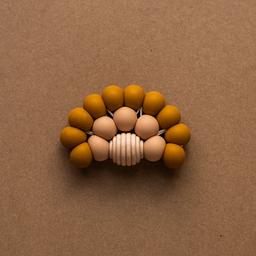 Minika Minika - Rainbow Teether, Ochre and Natural