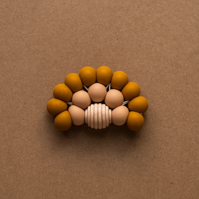 Minika Minika - Rainbow Teether, Ochre and Natural