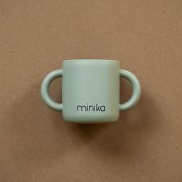 Minika Minika - Silicone Learning Cup with Handles, Sage