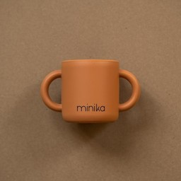 Minika Minika - Silicone Learning Cup with Handles, Ginger