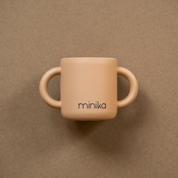 Minika Minika - Silicone Learning Cup with Handles, Natural