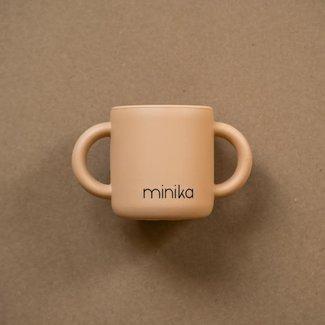Minika Minika - Tasse d'Apprentissage en Silicone avec Poignées, Naturel