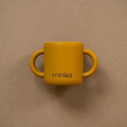 Minika Minika - Silicone Learning Cup with Handles, Ochre