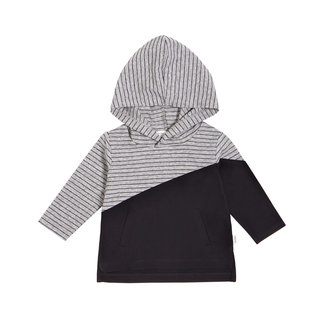 Miles Baby Miles Baby - Knit Hooded T-Shirt, Heather Gray