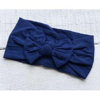 Mini Bretzel Mini Bretzel - Peony Headband, Navy