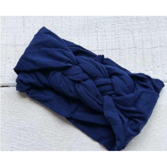Mini Bretzel Mini Bretzel - Twinning Headband, Mom, Navy Blue