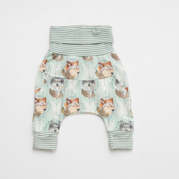 Little Yogi Little Yogi - Grow With Me Pants, Little Wolves