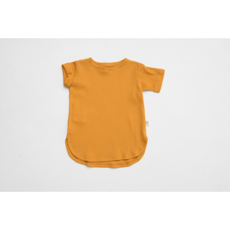 Little Yogi Little Yogi - Waffle T-Shirt, Caramel