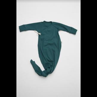Little Yogi Little Yogi - Waffle Kimono Gown, Emerald