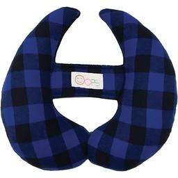 Oops Coussin de Tête Évolutif Oops,Bleu à Carreau/Oops Scalable Head Pillow, Blue Plaid