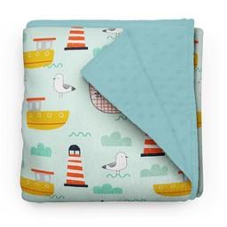 Olé Hop Olé Hop - Minky Blanket, Atlantic Seagulls