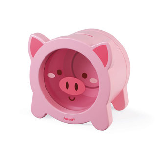 Janod Janod - Wooden Piggy Bank Pig