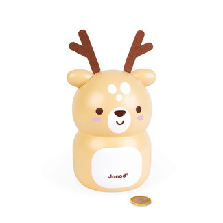 Janod Janod - Wooden Piggy Bank Fawn